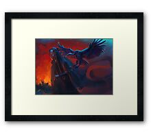Woman with griffin Framed Print