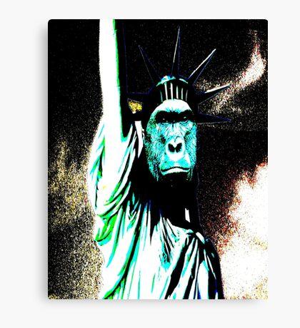 harambe statue of liberty mash up Canvas Print