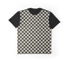 Grunge Checkerboard Graphic T-Shirt