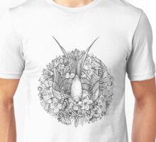 Bird in black and white Unisex T-Shirt