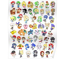 Super Smash Bros. All 58 Characters!  Poster