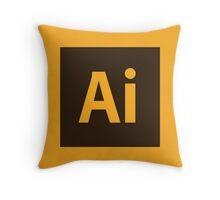 Adobe Illustrator Icon Throw Pillow