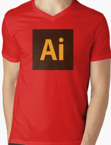 Adobe Illustrator Icon Mens V-Neck T-Shirt