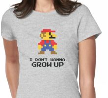 Mario - I Don't Wanna Grow Up Womens Fitted T-Shirt