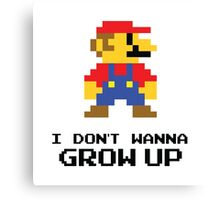 Mario - I Don't Wanna Grow Up Canvas Print