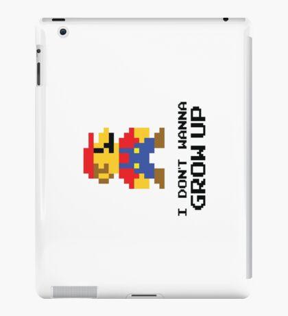 Mario - I Don't Wanna Grow Up iPad Case/Skin