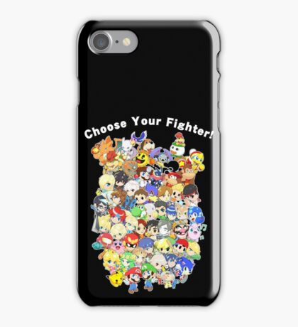 Super Smash Bros. All 58 Characters! Choose Your Fighter! Group iPhone Case/Skin