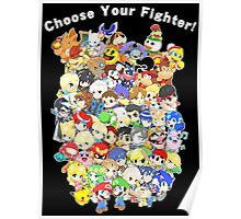 Super Smash Bros. All 58 Characters! Choose Your Fighter! Group Poster