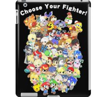 Super Smash Bros. All 58 Characters! Choose Your Fighter! Group iPad Case/Skin