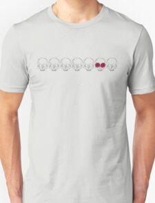 Skull Stripe & Roses Unisex T-Shirt