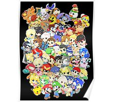 Super Smash Bros. All 58 Characters! Group Poster
