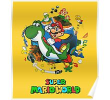 Super Mario World Logo Poster