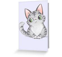 Grey Kitten Greeting Card