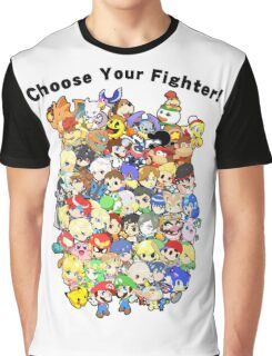 Super Smash Bros. All 58 Characters! Choose Your Fighter!! Group Graphic T-Shirt
