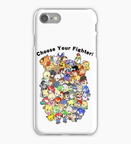 Super Smash Bros. All 58 Characters! Choose Your Fighter!! Group iPhone Case/Skin