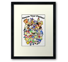 Super Smash Bros. All 58 Characters! Choose Your Fighter!! Group Framed Print