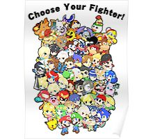Super Smash Bros. All 58 Characters! Choose Your Fighter!! Group Poster