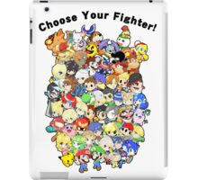Super Smash Bros. All 58 Characters! Choose Your Fighter!! Group iPad Case/Skin