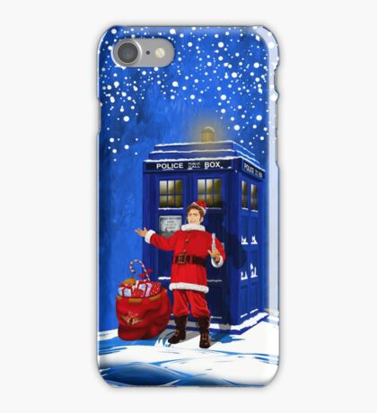 10th Doctor as a Santa claus iPhone Case/Skin
