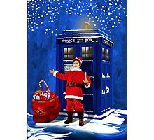 10th Doctor as a Santa claus Photographic Print