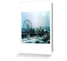 Cold Forest Playground Greeting Card