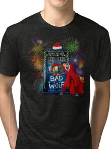 Happy New year from 10th Doctor Tri-blend T-Shirt