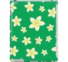 pattern with White frangipani flowers iPad Case/Skin