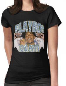 Playboi Carti Vintage Hip-Hop  Womens Fitted T-Shirt