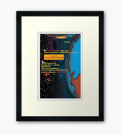 Bird of Steel Comix - Page #1 of 8 (Red Bubble POP-ART COLLECTION SERIES) Framed Print