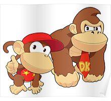 Super Smash Bros. Donkey Kong and Diddy Kong Poster