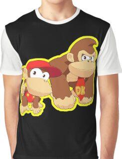 Super Smash Bros. Donkey Kong and Diddy Kong! Graphic T-Shirt