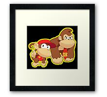 Super Smash Bros. Donkey Kong and Diddy Kong! Framed Print