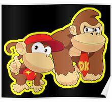 Super Smash Bros. Donkey Kong and Diddy Kong! Poster