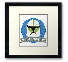 Shutter - Bucket Series Framed Print