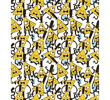 Bill Cipher pattern - plain Photographic Print