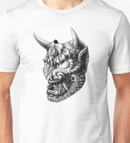 Japanese Demon Mask v1 Unisex T-Shirt