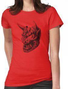 Japanese Demon Mask v1 Womens Fitted T-Shirt