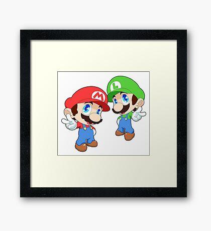 Super Smash Bros. Mario and Luigi Framed Print