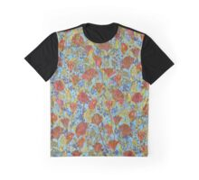 Remembering Poppies - Blue Graphic T-Shirt