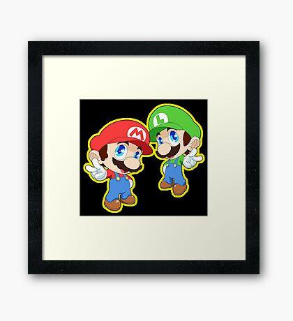Super Smash Bros. Mario and Luigi! Framed Print