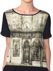 Greyfriars Bobby Pub Edinburgh Vintage Chiffon Top