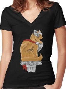 Thorkitty Women's Fitted V-Neck T-Shirt