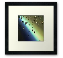 Meteorites asteroids flying in space surrealist futuristic science fiction sci-fi artistic square color analog 35mm film photo Framed Print