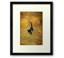 Happy Haunting Framed Print