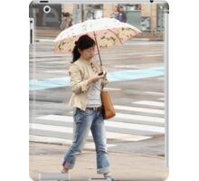 Young Woman with an Umbrella iPad Case/Skin