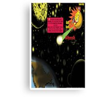 Bird of Steel Comix - Page #2-8 (Red Bubble POP-ART COLLECTION SERIES) Canvas Print