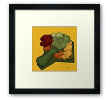 Broccoli A Little Different Framed Print
