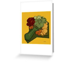 Broccoli A Little Different Greeting Card