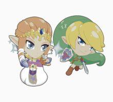 Super Smash Bros. Zelda and Link Baby Tee
