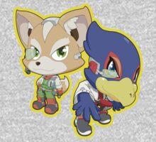 Super Smash Bros. Fox and Falco! One Piece - Short Sleeve